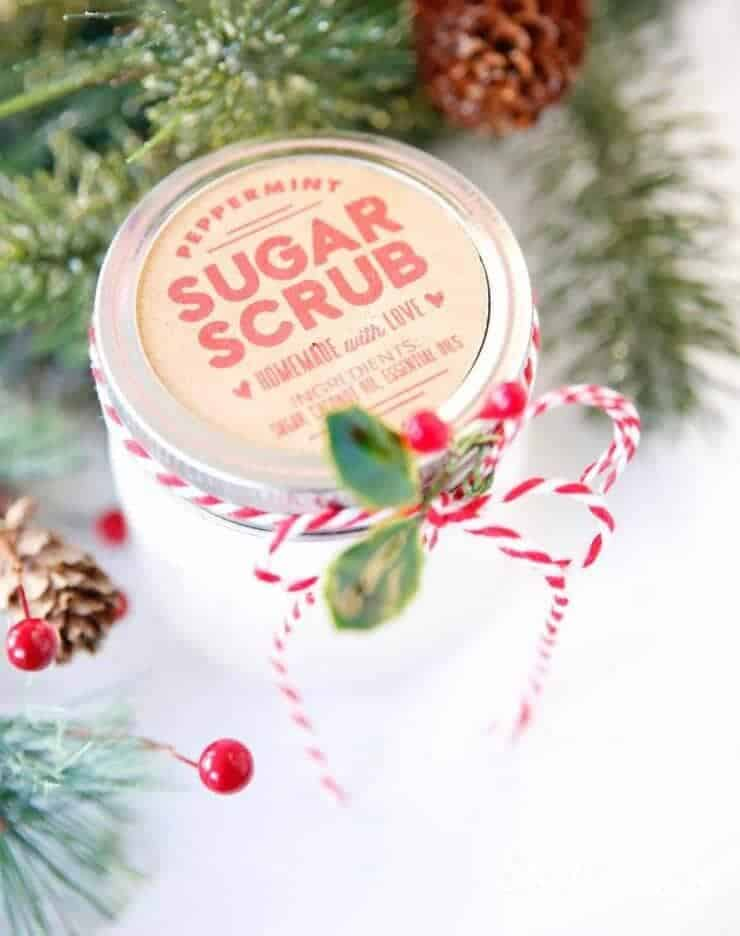 This lavender sugar scrub is a super easy homemade gift that your friends and family will love!