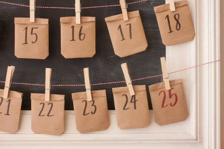 This Chalkboard Advent Calendar is a fun and easy activity your family will love this holiday season!
