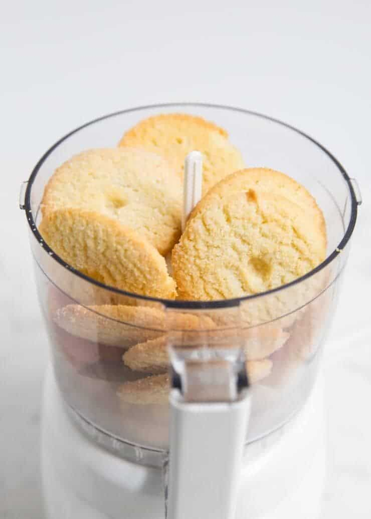 sugar cookies in a food processor