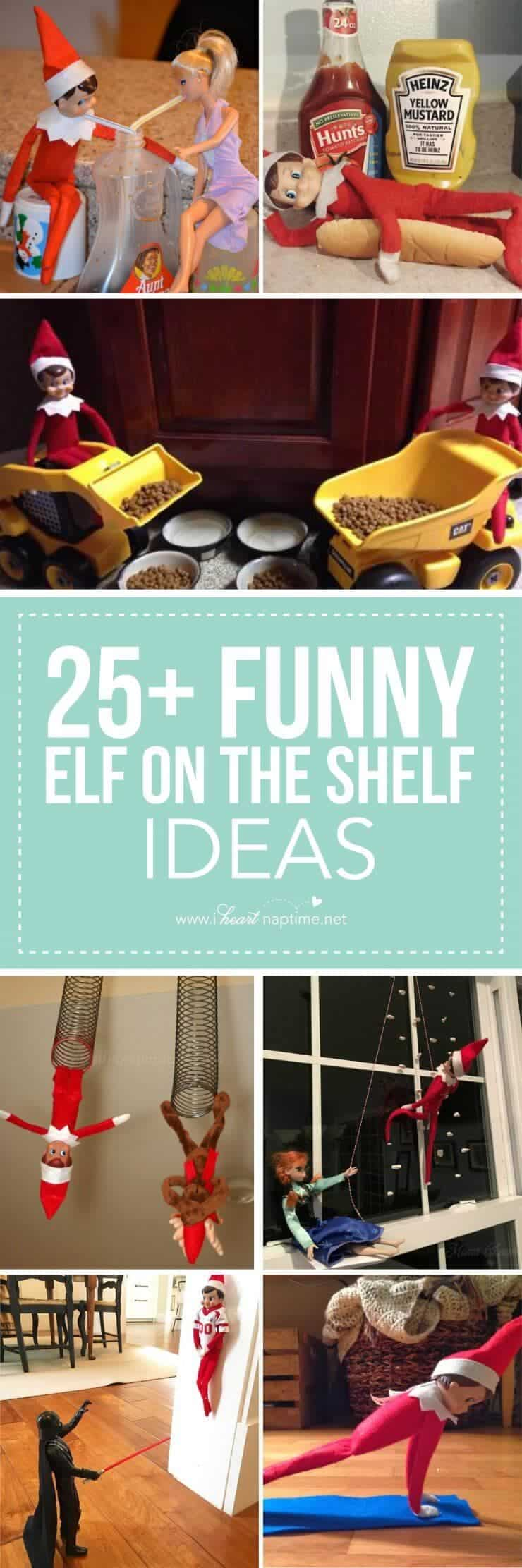 25 funny elf on the shelf ideas i heart nap time. Black Bedroom Furniture Sets. Home Design Ideas