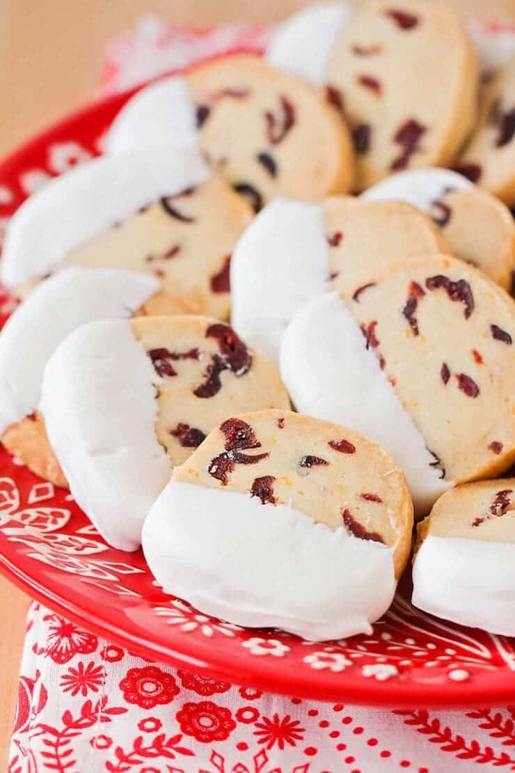 Cranberry Orange Shortbread Cookies - so rich and buttery, with the most delicious combination of flavors. They're the perfect cookie to share with friends and family this season!