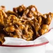 maple peanut brittle pieces