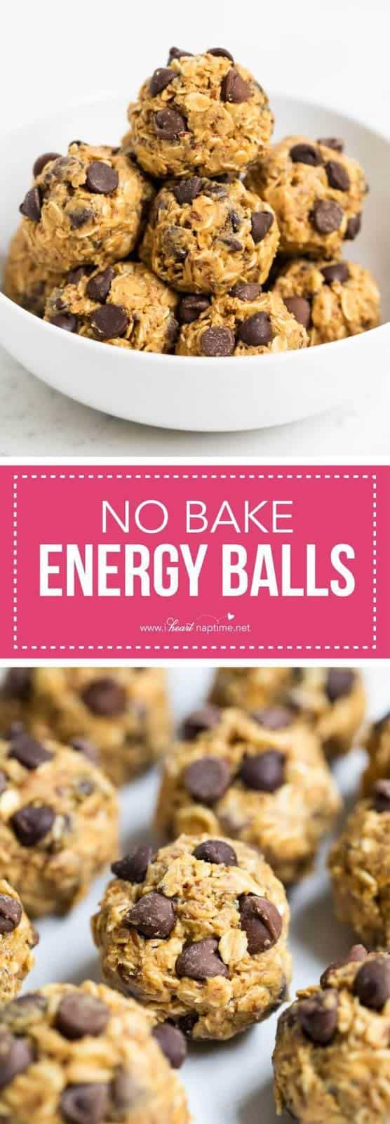 These no bake energy balls make the perfect breakfast, snack or even dessert. So delicious and only take 5 minutes and 5 ingredients to make!