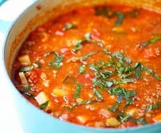 One-pot Hearty Vegetable Soup. Easy to make, healthy and completely delicious!