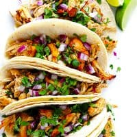 Slow Cooker Crispy Chicken Carnitas + 25+ Amazing Chicken Dinner Recipes - Serving chicken for dinner doesn't have to be boring! Check out these incredible chicken dinner recipes that add variety to your menu and freshen up a fundamental dinner staple!