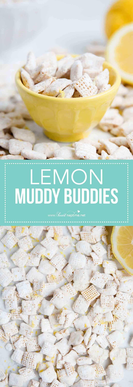 lemon muddy buddies collage