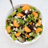 A bowl of mandarin orange salad