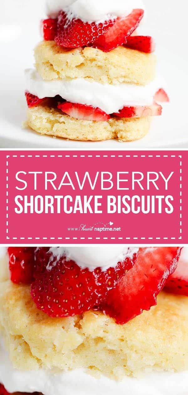 strawberry shortcake biscuit collage