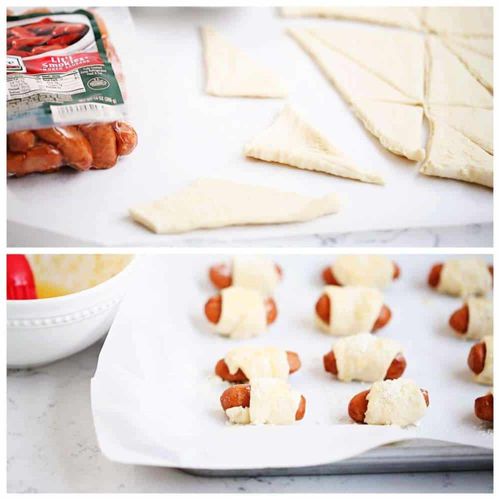 crescent roll pigs in a blanket