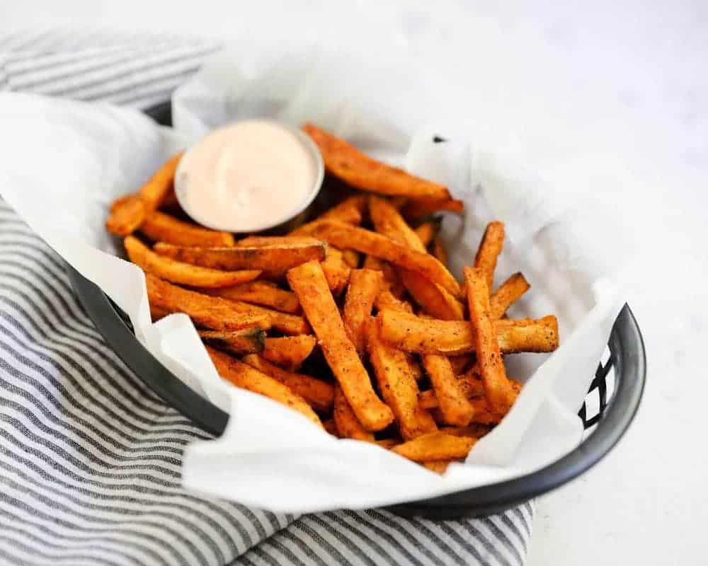 Crispy Baked Sweet Potato Fries Video I Heart Naptime