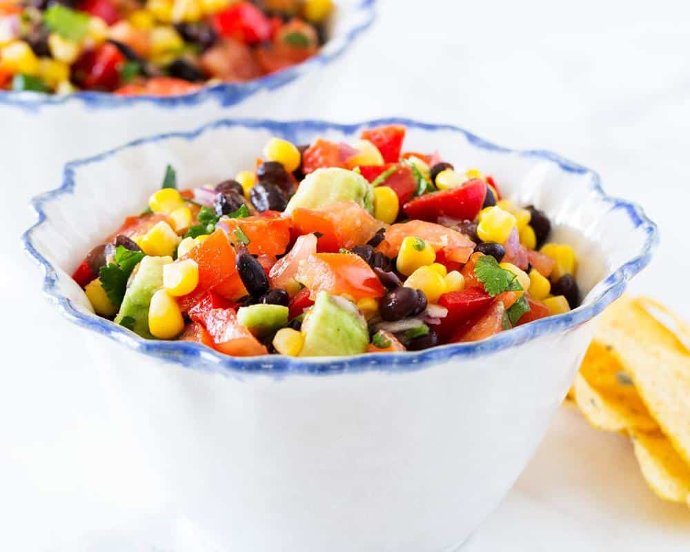 black bean salsa in bowl