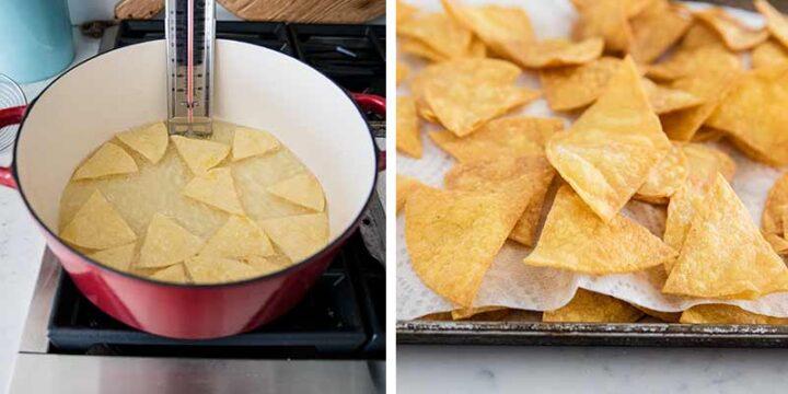 frying tortilla chips