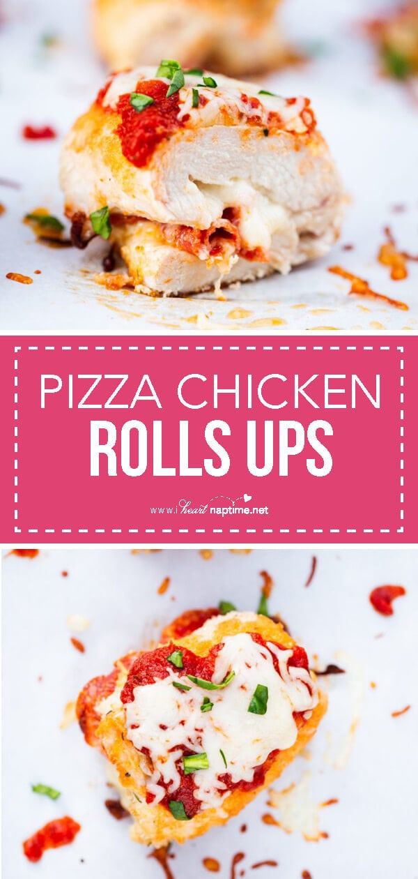 pizza chicken roll ups