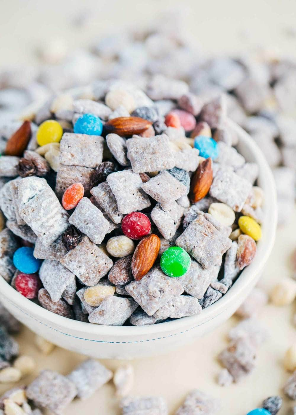 Trail Mix Muddy Buddies Recipe I Heart Naptime