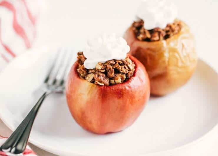 healthy fall recipes, baked apples