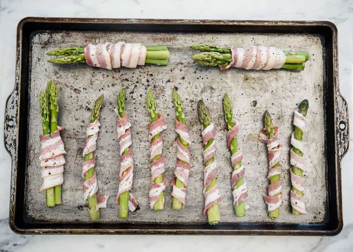 how to cook bacon wrapped asparagus