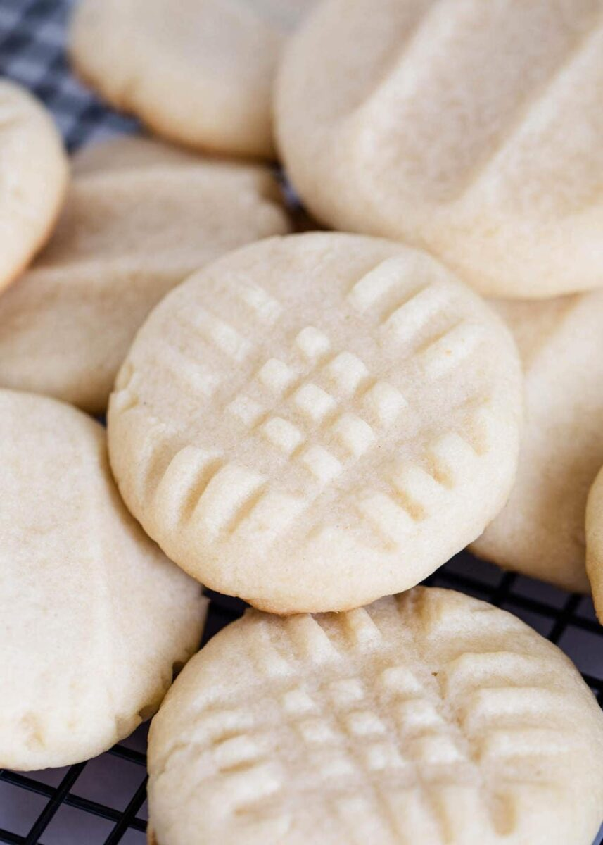 close up of butter cookies