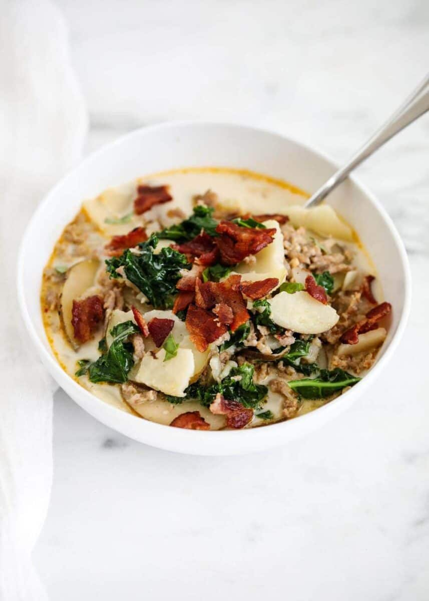 bowl of zuppa toscana