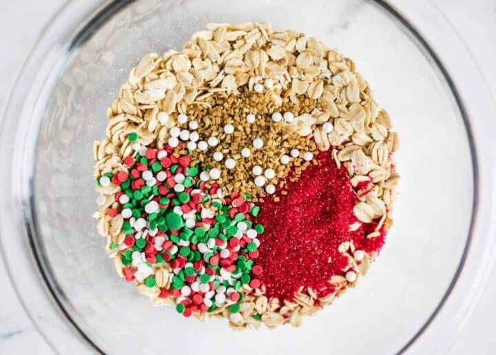 reindeer food ingredients in a bowl