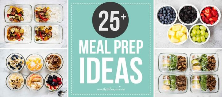 collage of meal prep ideas