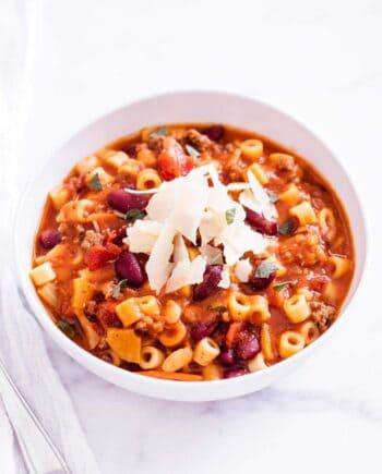 Healthy pasta fagioli recipe