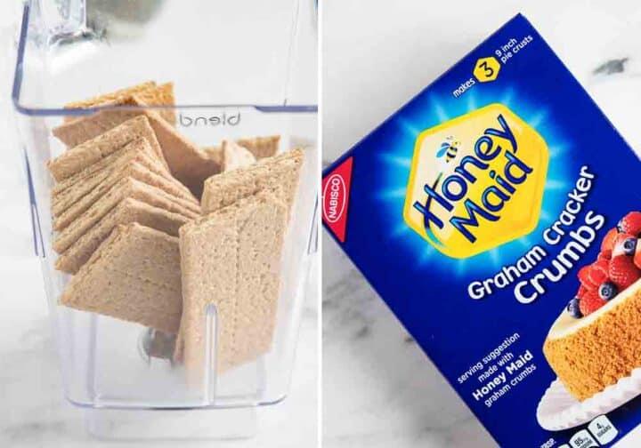 blending graham crackers in blender
