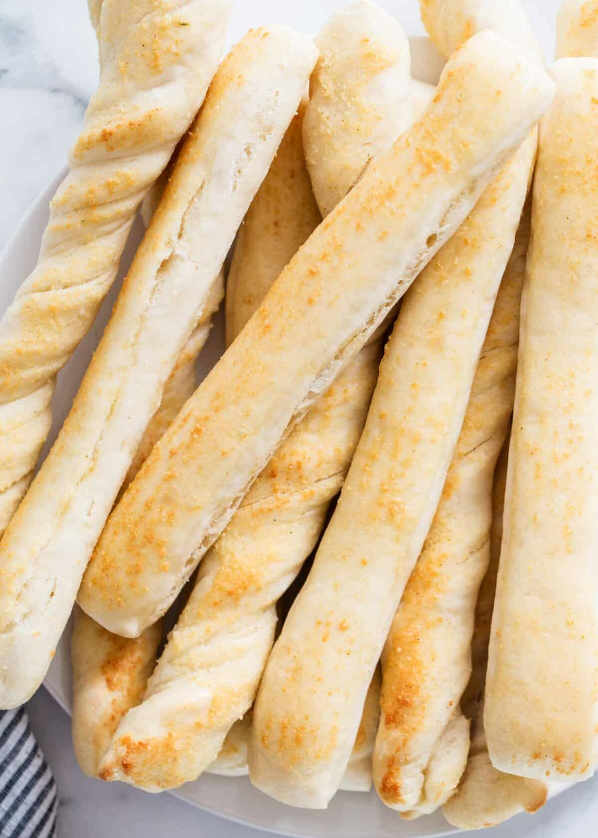 stack of breadsticks