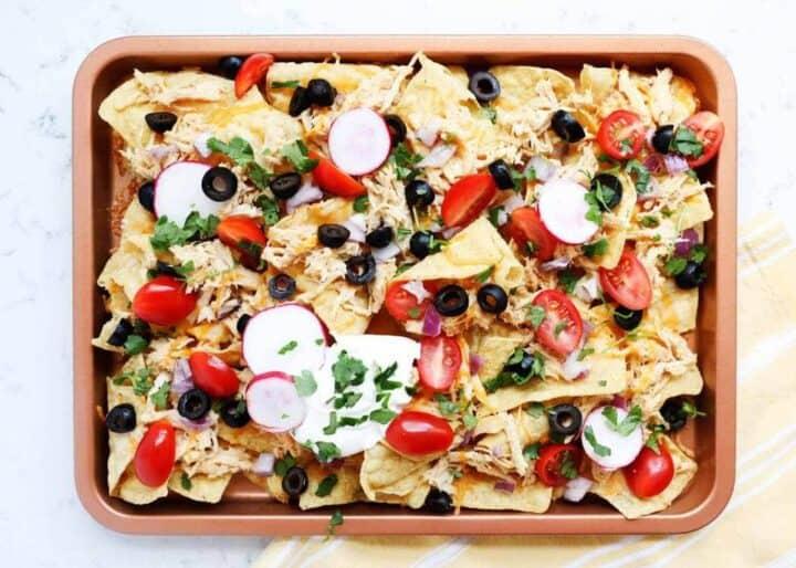 nachos on sheet pan
