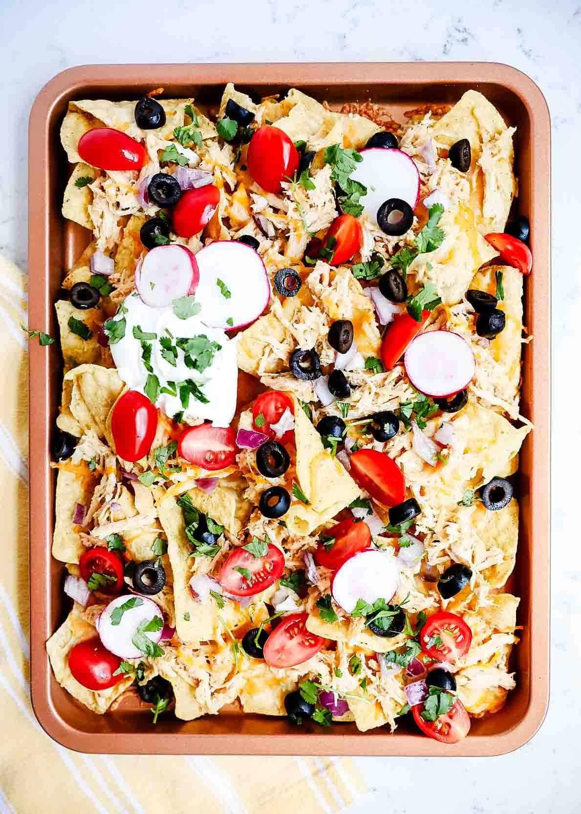 nachos in oven