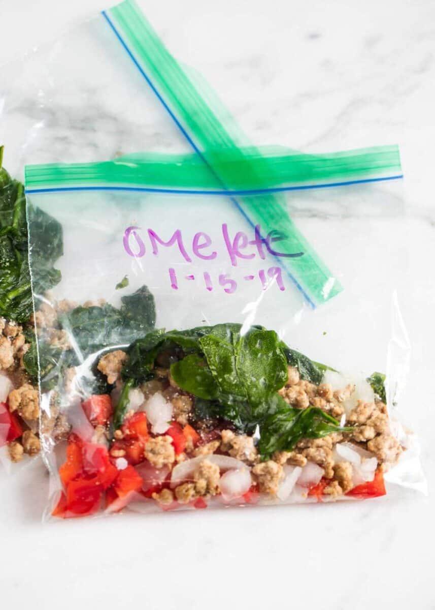 meal prep omelette bags
