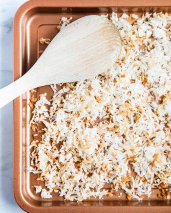 how to toast coconut on a pan