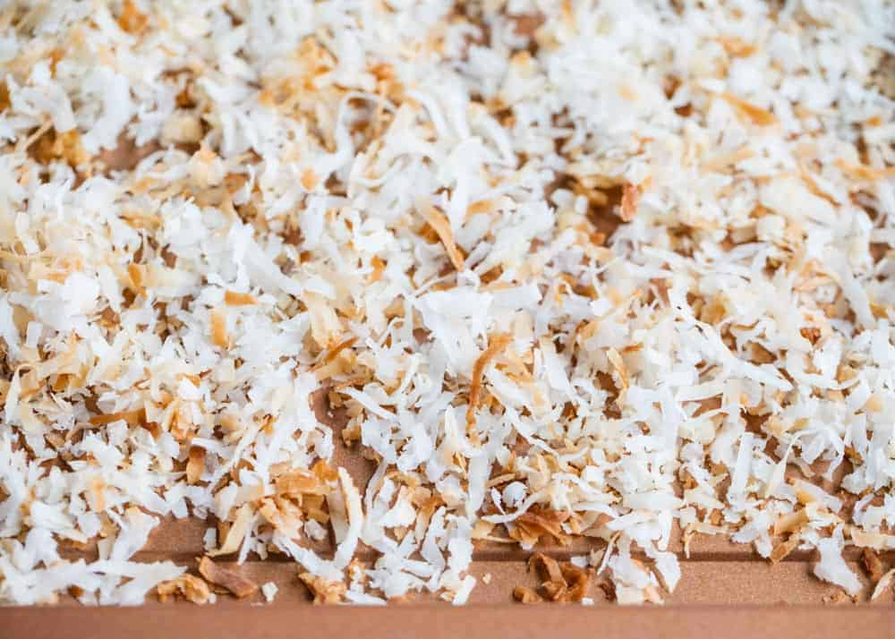 how to toast coconut flakes on a pan
