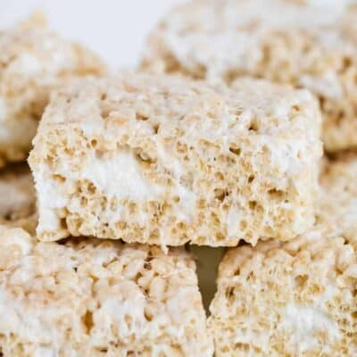stacked rice krispie treats