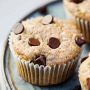zucchini muffins with chocolate chips