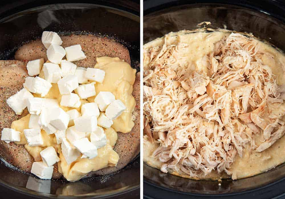 ingredients for creamy Italian chicken in crockpot