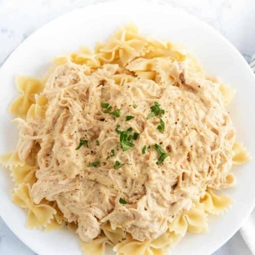 Creamy Crockpot Italian Chicken 4 Ingredients I Heart Naptime