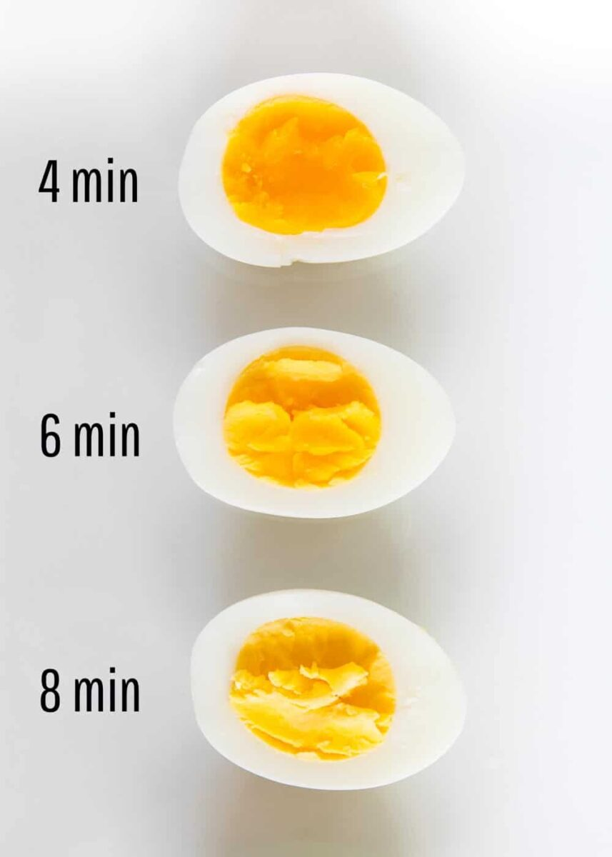 hard boiled eggs time chart