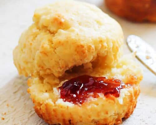 breakfast muffin with jam