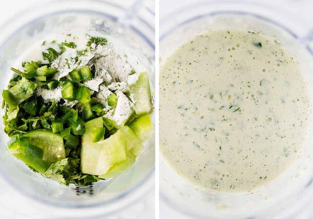 making cilantro lime salad dressing