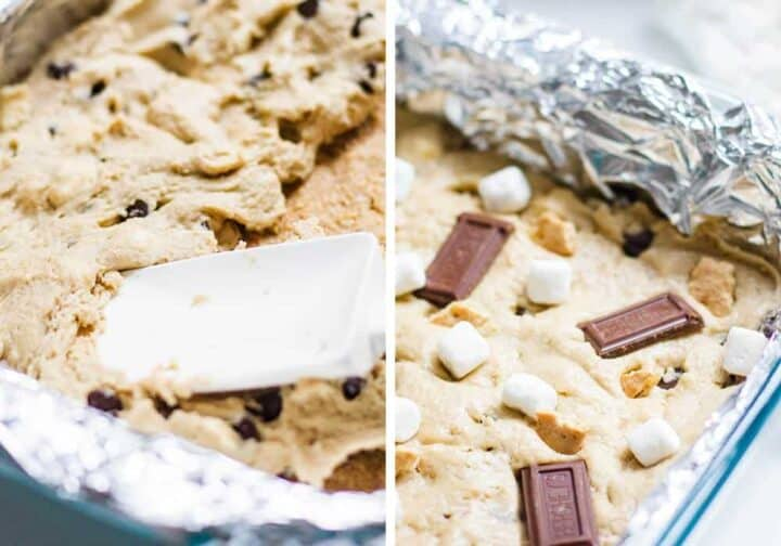 s'mores bars in baking pan