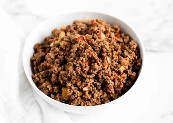 taco meat in a bowl