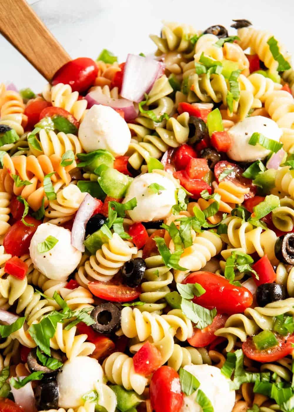 Easy Pasta Salad Recipe With Italian Dressing I Heart Naptime