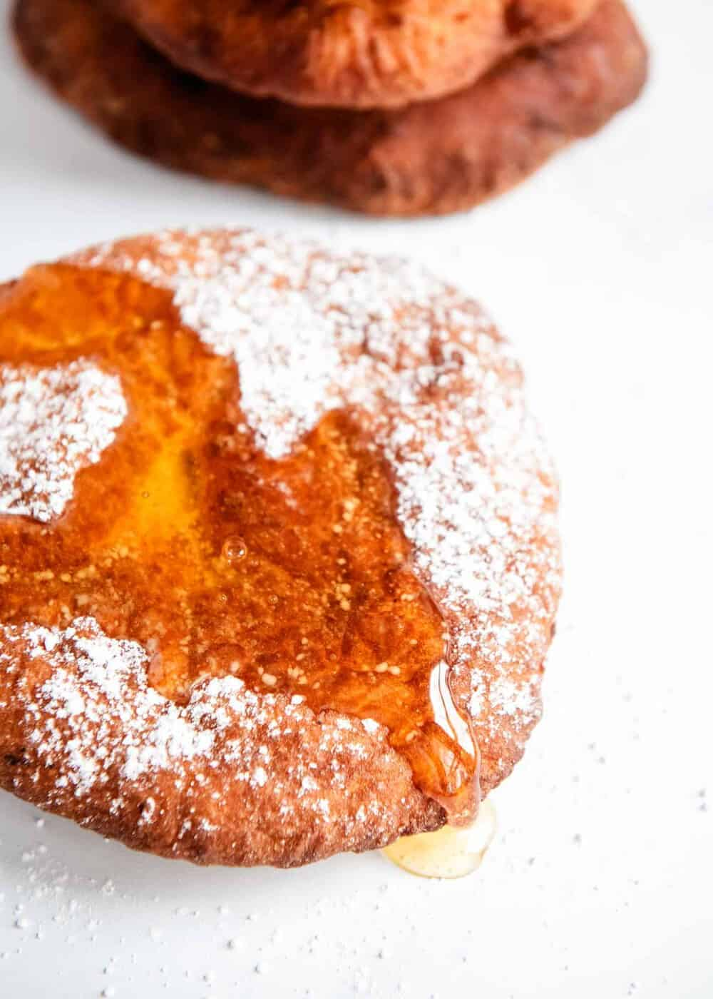 fry bread with honey and powdered sugar