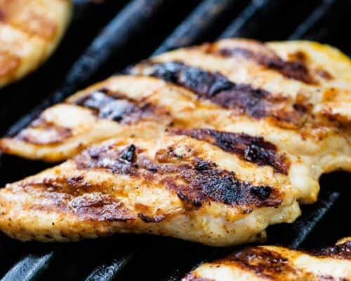 grilled chicken on the bbq