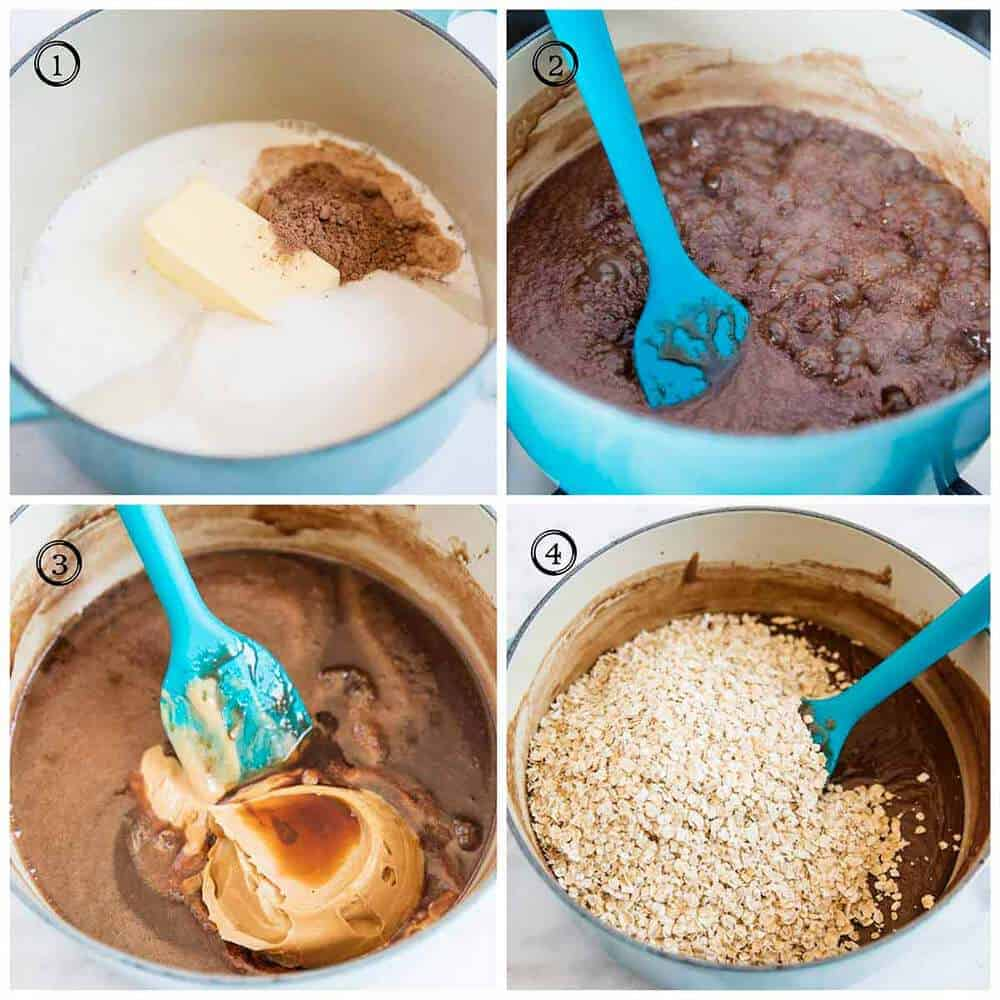 how to make no bake cookies in saucepan