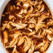 BBQ chicken in the crockpot