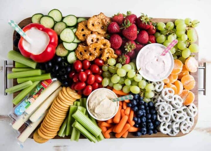 fruit and veggie platter