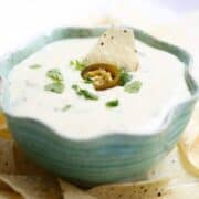 bowl of queso blanco