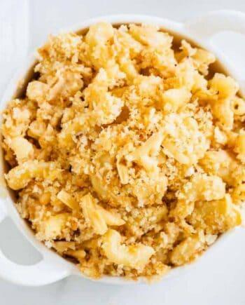bowl of smoked gouda mac and cheese