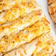 cheesy garlic bread slices